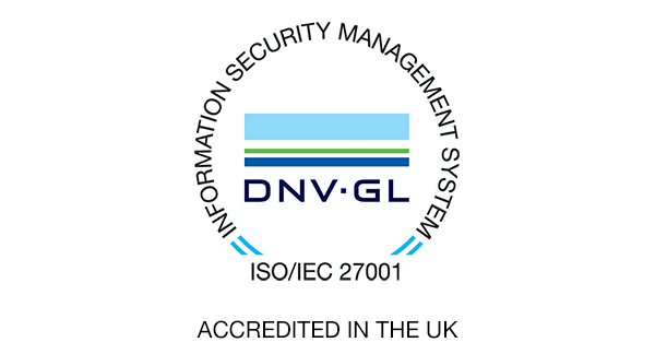 ISO 27001 accredited in the UK