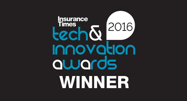 Insurance Times Tech & Innovation Awards 2016 Winner